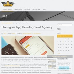 Hiring An App Development Agency