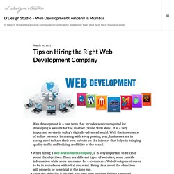 Tips on Hiring the Right Web Development Company