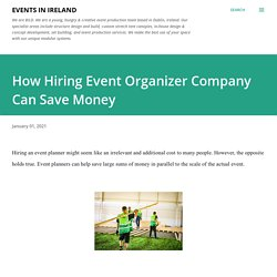 How Hiring Event Organizer Company Can Save Money
