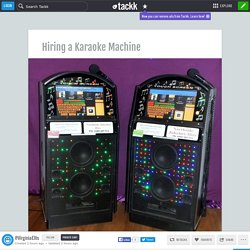 Hiring a Karaoke Machine