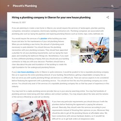 Hiring a plumbing company in Oberon for your new house plumbing