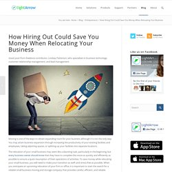 How Hiring Out Could Save You Money When Relocating Your Business
