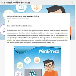 Hiring WordPress SEO Services Online