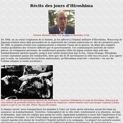 Hiroshima Témoignage DrShuntaro Hida