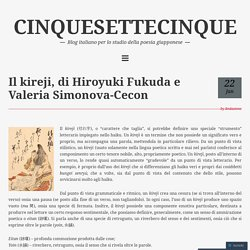 Il kireji, di Hiroyuki Fukuda e Valeria Simonova-Cecon – CINQUESETTECINQUE