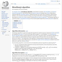 Hirschberg's algorithm