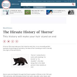 The Hirsute History of 'Horror'