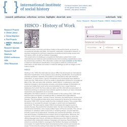 HISCO - History of Work