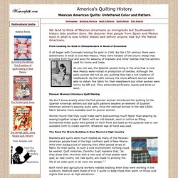 Hispanic Quilts & Quilting: Mexican Color & Spanish Needlework