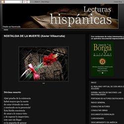 Lecturas hispánicas: NOSTALGIA DE LA MUERTE (Xavier Villaurrutia)