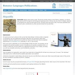 Hispanófila – Romance Languages Publications