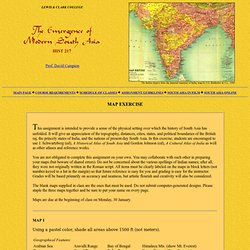 HIST 217 Modern South Asia: Map Exercise