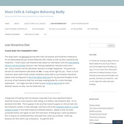 Mast Cells & Collagen Behaving Badly