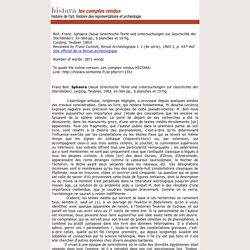 Histara - Les comptes rendus