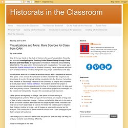 Visualizations and More: More Sources for Class from OAH