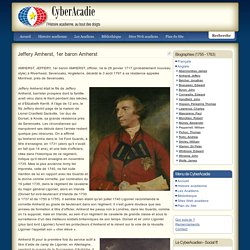 Jeffery Amherst, officier britanique 1717-1797
