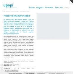 Histoire de l'Actors Studio