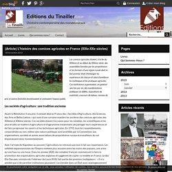 (Article) L'histoire des comices agricoles en France (XIXe-XXe siècles) - Editions du Tinailler