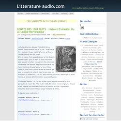 CONTES DES 1001 NUITS – Histoire d'Aladdin ou la Lampe merveilleuse