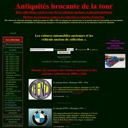 Histoire des marques, voitures anciennes - Voitures anciennes de collection, v2.