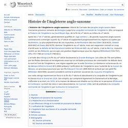 Histoire de l'Angleterre anglo-saxonne