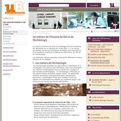 Les métiers de l'Histoire de l'Art et de l'Archéologie - UFR Sciences Humaines - uB, Dijon