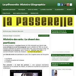 Histoire des arts Archives - La p@sserelle -Histoire Géographie-