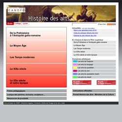 Histoire des arts - crdp strasbourg