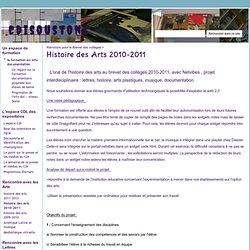 Histoire des Arts 2010-2011 - cdisoustons