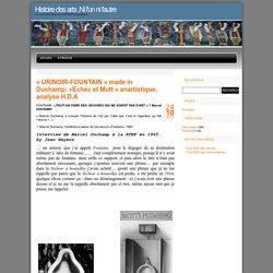 WEB PÉDA : article ready-made, DUSCHAMP -F