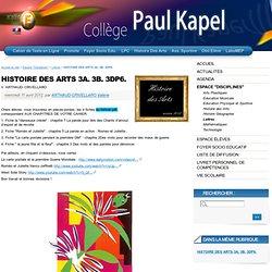 HISTOIRE DES ARTS 3A. 3B. 3DP6. - Collège Paul Kapel