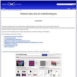 Histoire des arts et mathématiques