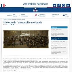 Histoire de l'Assemblée nationale