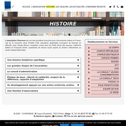 Histoire - Association Charonne