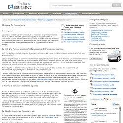 Histoire de l'assurance - Index de l'Assurance