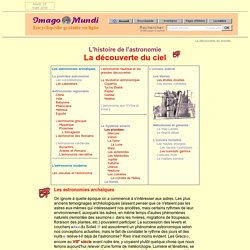 L'histoire de l'astronomie - Imago Mundi (Encyclopédie)