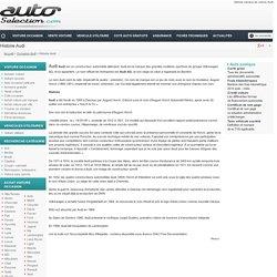 Histoire Audi, marque de voiture