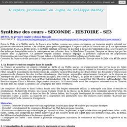 SECONDE Histoire - SE3 - barbeypedagogies jimdo page!