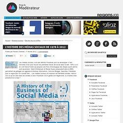 L'histoire des médias sociaux de 1978 à 2012
