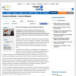Histoire du Monde : crise en Bulgarie - RTBF Matin premiere
