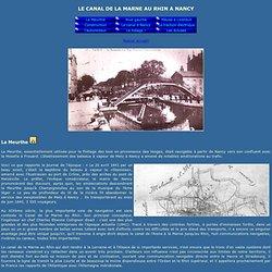 Histoire du canal de la Marne au Rhin passant à Nancy