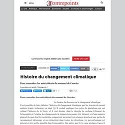 Histoire du changement climatique