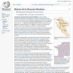 Histoire de la Charente-Maritime