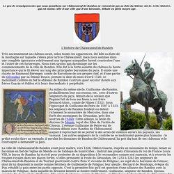 L'histoire de Châteauneuf-de-Randon en Lozère