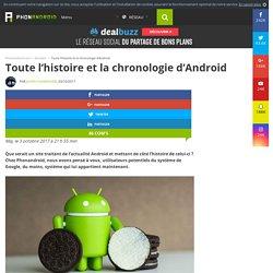 Toute l'histoire et la chronologie d'Android