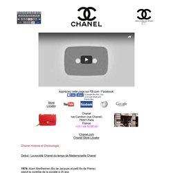Histoire et Chronologie de Chanel par VB.com