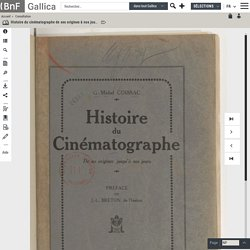 Histoire du cinématographe de ses origines à nos jours / G.-Michel Coissac ; préface de J.-L. Breton,...