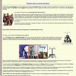 Histoire de la communication