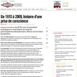De 1970 à 2009, histoire d'une prise de conscience