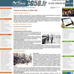 5. L'Histoire de la Nièvre, de 1800 à 1944